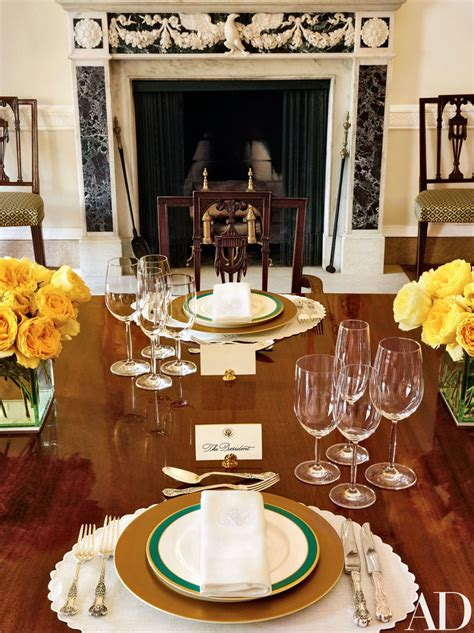obama inside room dining private living residence quarters digest michael architectural smith areas interior idesignarch homes stylish mundy luncheon served