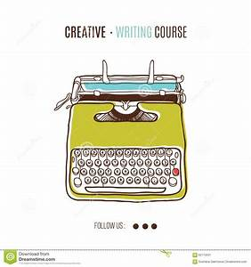 Retro Vector Typewriter Stock Vector  Image Of Letter