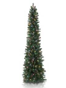 7 39 balsam hill sonoma slim pencil artificial tree clear trees