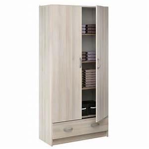 lingere 2 portes 1 tiroir cobi coloris acacia vente de With good meuble 9 cases blanc 10 meuble chaussures miroir conforama