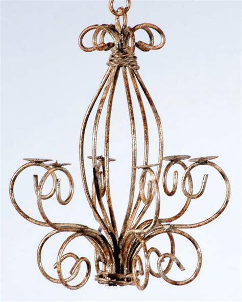 small candle chandelier wrought iron country candle chandelier small for the
