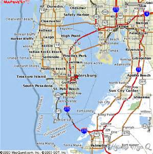 Tampa Bay Area Map of Clearwater Florida