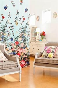 le papier peint design 50 belles idees archzinefr With chambre bébé design avec foulard a fleur