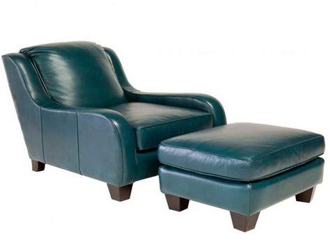 furniture flexsteel leather teal ottoman lounge chair