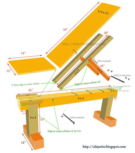 woodwork   build  incline bench  wood  plans