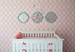 Baby nursery decor girl wallpaper new homes