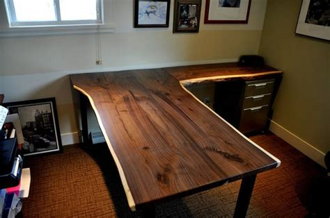 black walnut desk top stunning handmade wooden desk hometalk pinterest