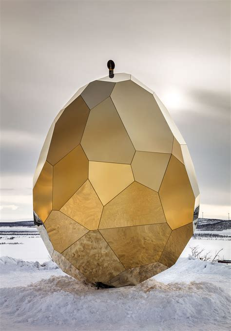 Solar Egg In Kiruna by All Sides The Solar Egg Installation By Bigert
