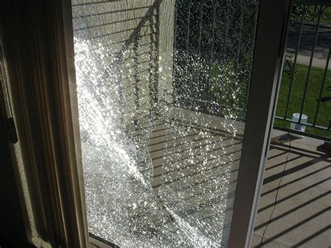 broken sliding patio door glass