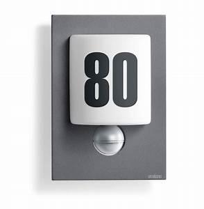 Außenleuchte Mit Hausnummer : steinel sensorleuchte l 680 led alublende anthrazit 003807 fh ~ Buech-reservation.com Haus und Dekorationen