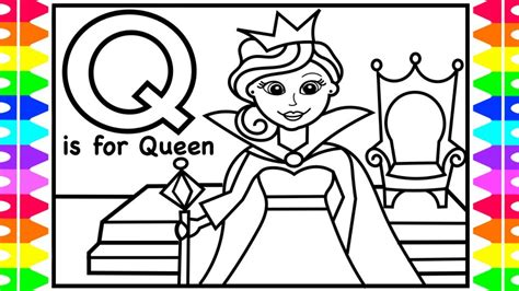 Letter Q Printable Coloring Pages For Kids