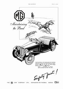 Car Advert Mg Tc  2  1946