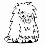 Monster Coloring Pages Monsters Printable Moshi Funny Colouring Cartoon Sheets Furry Template Wonder Woman Getcolorings Scribblefun Getcoloringpages Clipartmag sketch template