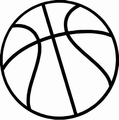 Basketball Ball Coloring Outline Clipart Printable Drawing