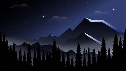 8k Minimalist Mountains Night Wallpapers 4k Resolution