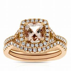 Rose Gold Sprühlack : rose gold morganite diamond bridal set 14k ben bridge jeweler ~ Avissmed.com Haus und Dekorationen