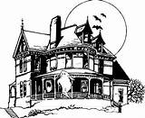 Haunted Coloring Pages Sketch Drawing Houses Printable Adults Scary Halloween Drawings Colouring Spooky Folk Google Getcoloringpages Easy Open Print sketch template