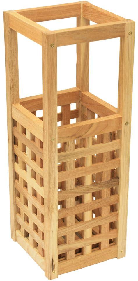 maribelle square wooden umbrella stand small storage