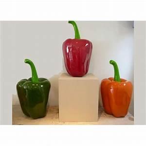 Decoration de cuisine en resine poivron par texartes for Objets decoratifs cuisine