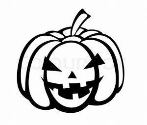 Kürbis Schwarz Weiß : monochrome schwarz wei e silhouette der k rbis festliche halloween special vektorgrafik ~ Orissabook.com Haus und Dekorationen