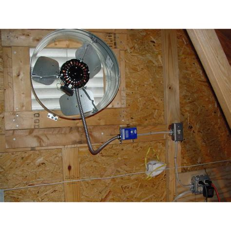 how to install an attic fan gable attic fan home construction improvement