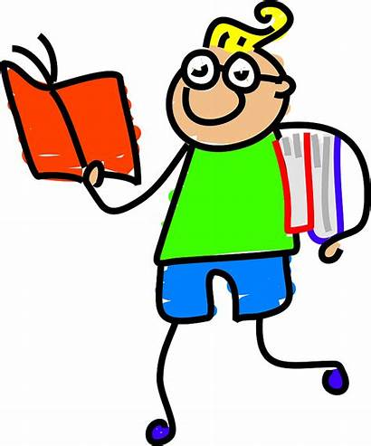 Clever Clipart Kid Intelligent Books Boy Drawing
