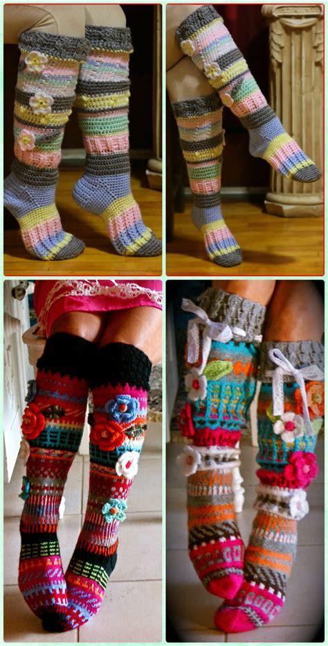 High Knee Crochet Slipper Boots Patterns to Keep Your Feet ...