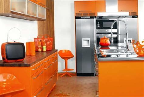 decoracion de cocinas en color naranja