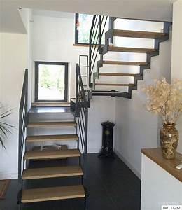 Escalier En U : fabricant escalier deux quarts tournant en bretagne ~ Farleysfitness.com Idées de Décoration