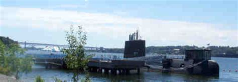 Electric Boat Groton Parking by Nuclear Submarine Nautilus And The Submarine Museum