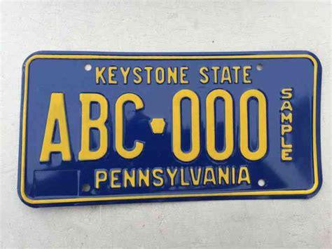 vanity plates pa pennsylvania flagship niagra vanity license plate