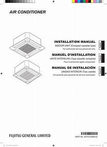 Fujitsu Auu12rlf Installation Manual