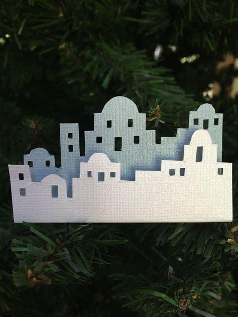 Skyline   Bethlehem. White & light blue cardstock, foam