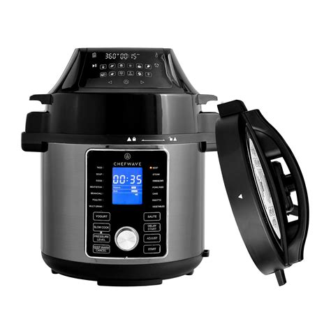 cooker fryer pressure air multi pot qt chefwave swap slow cook combo recipe presets nuwave duet digital dehydrator control walmart