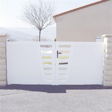 portail battant pvc aydat blanc    cm leroy