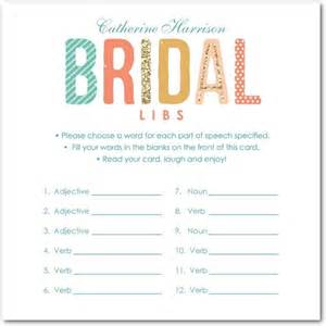 Free Bridal Shower Mad Libs Games