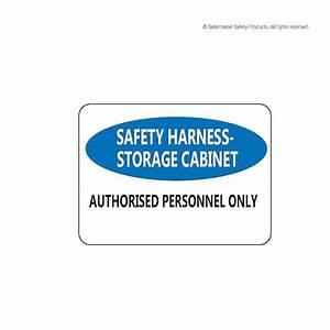 Sfh305  Harness Storage Cabinet Signage