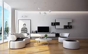 Moderne Wohnzimmer Schwarz Weiss : wohnzimmer gestalten den komfort in unserem wohnzimmer einladen ~ Markanthonyermac.com Haus und Dekorationen