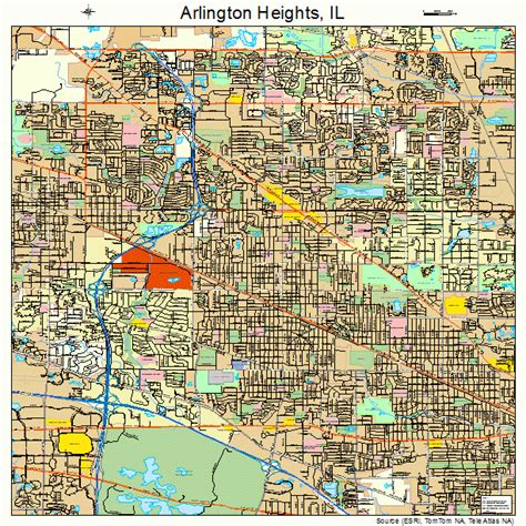 arlington heights il arlington heights illinois street map 1702154