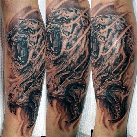 3d Stil Erstaunlich Aussehendes Unterarm Tattoo Von Tiger