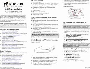 Ruckus Wireless R510 Quick Setup Guide Qsg 800 70940 001