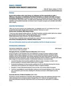 resume for non profit 18 best images about non profit resume sles on career executive assistant and