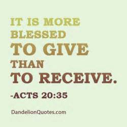 Better To Give Than Receive Quotes. QuotesGram