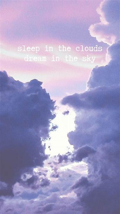 Pastel Iphone Wallpapers Cloudy Quotes Clouds Dream