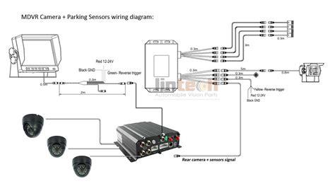 aftermarket backup sensors with 4chs dvr cctv system for school lsb 04