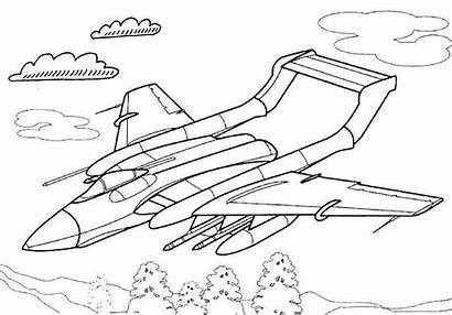 Fighter Jet Coloring Printable Pages Themed