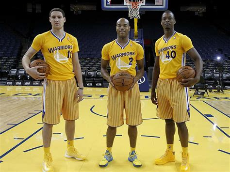 Golden State Warriors' new uniforms, with sleeves
