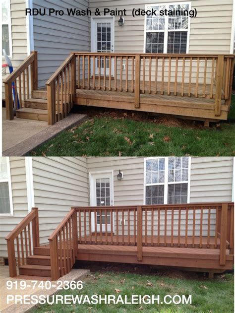 semi transparent cider mill stain applied   deck