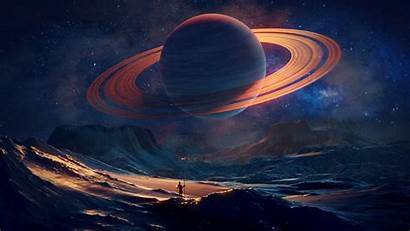 Space Planet Traveler Blender Laptop Saturn Fantasy