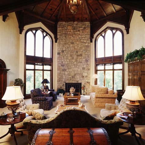 A Modern Castle - Mediterranean - Living Room - Cedar